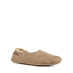 RJR.John Rocha - Taupe faux fur lined carpet slippers