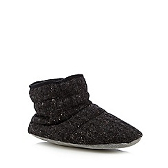 RJR.John Rocha - Dark grey knitted boot slippers