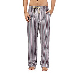 RJR.John Rocha - Wine striped pyjama trousers