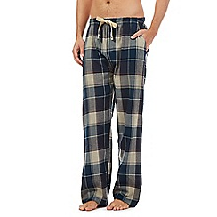 RJR.John Rocha - Natural block check pyjama trousers
