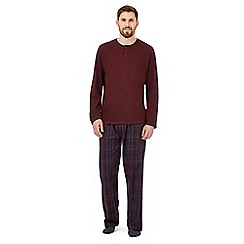 Maine New England - Dark red long sleeve top and pant loungewear set