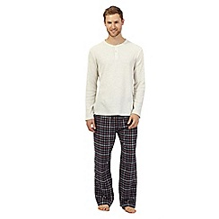 Maine New England - Big and tall natural loungewear set