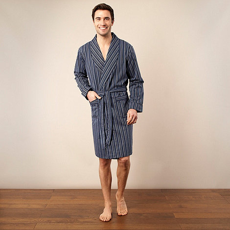 J by Jasper Conran - Designer navy striped dressing gown