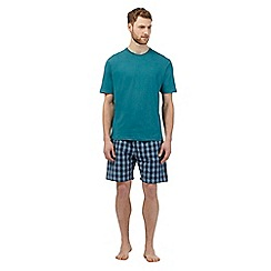 Maine New England - Aqua checked loungewear set