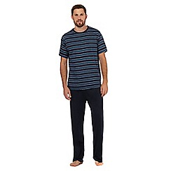 Maine New England - Navy striped loungewear set