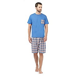 Mantaray - Blue printed pyjama t-shirt and shorts set
