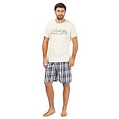 Mantaray - Purple striped pyjama t-shirt and grey bottoms set