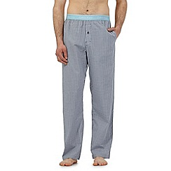Calvin Klein - Light blue checked print pyjama bottoms
