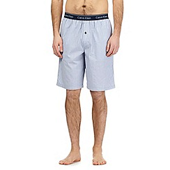 Calvin Klein - Blue textured stripe pyjama shorts