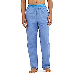 Calvin Klein - Blue striped print pyjama trousers