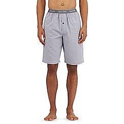 Calvin Klein - Grey check print pyjama shorts