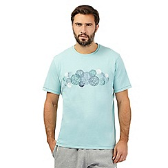 RJR.John Rocha - Light turquoise scratch circle print t-shirt