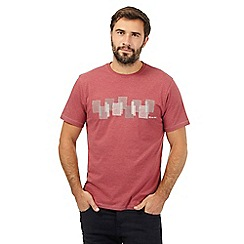 RJR.John Rocha - Dark red stitched rectangle print t-shirt