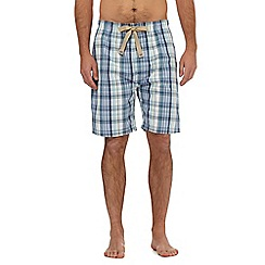 RJR.John Rocha - Aqua checked print lounge shorts