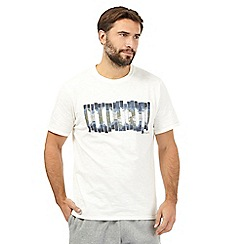 RJR.John Rocha - Cream textured bar print t-shirt
