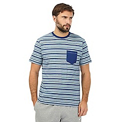RJR.John Rocha - Navy striped pocket t-shirt