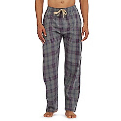 RJR.John Rocha - Grey lightweight checked print lounge bottoms