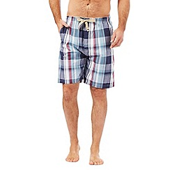 RJR.John Rocha - Navy checked print lounge shorts