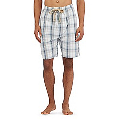 RJR.John Rocha - Light grey checked print shorts