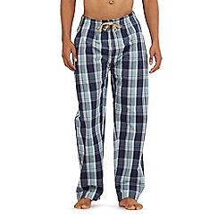 RJR.John Rocha - Navy checked print pyjama bottoms