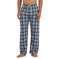 RJR.John Rocha - Blue lightweight checked print lounge bottoms