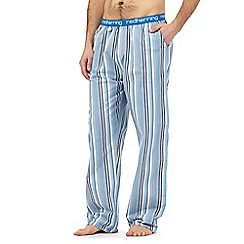 Red Herring - Blue striped print pyjama bottoms