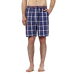 Red Herring - Purple checked print pyjama shorts