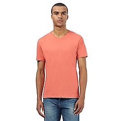 Red Herring - Dark peach V neck t-shirt