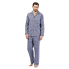 Maine New England - Big and tall blue checked pyjama set