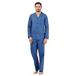 Maine New England - Big and tall blue patterned pyjama set
