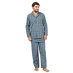 Maine New England - Dark turquoise checked pyjama set