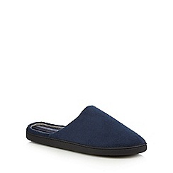 Maine New England - Navy towelling mule slippers