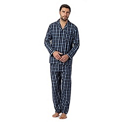 Maine New England - Blue check pyjama set