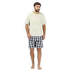 Maine New England - Beige checked loungewear set
