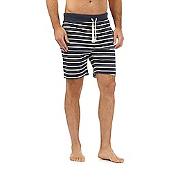 Tommy Hilfiger - Navy striped print jersey shorts