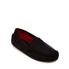 Totes - Black moccasin slippers