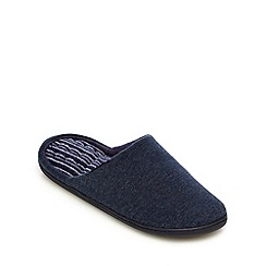 Totes - Blue jersey mule slippers