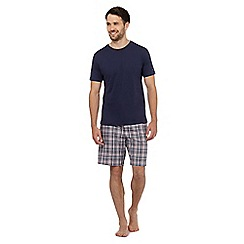 Tommy Hilfiger - Navy t-shirt and checked print shorts pyjama set