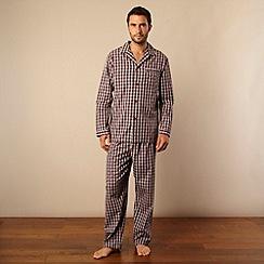 Maine New England - Wine checked pyjama set