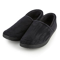 Maine New England - Black suedette memory foam slippers