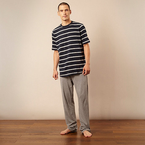 Maine New England - Grey short sleeved jersey pyjama set