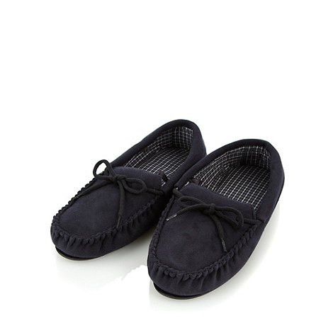 Maine New England - Black faux suede moccasins