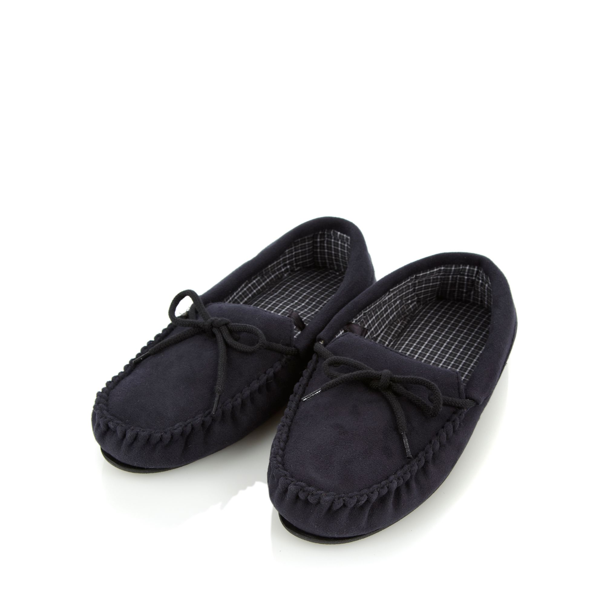 Maine-New-England-Black-Faux-Suede-Moccasins