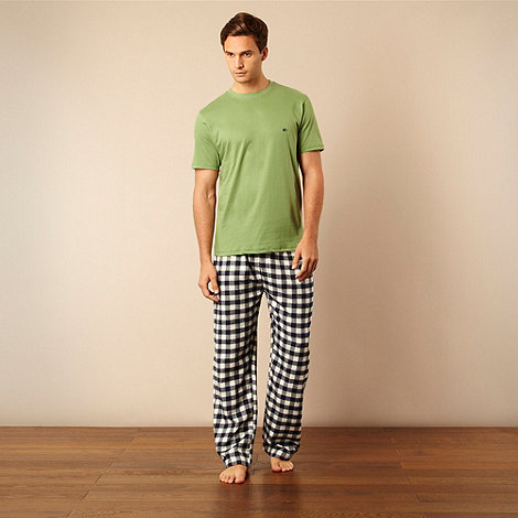 Mantaray - Green t-shirt and checked bottoms pyjama set