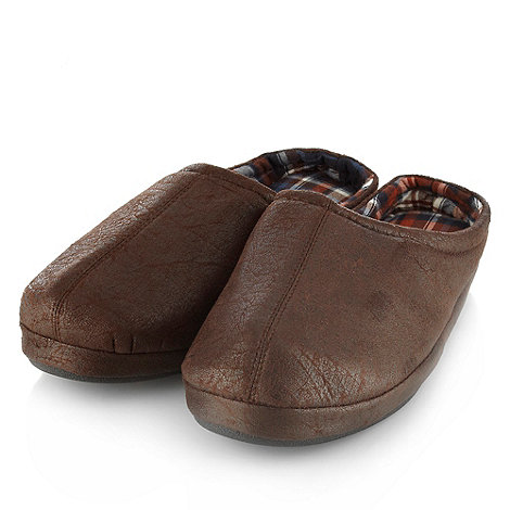 Mantaray - Chocolate distressed mule slippers