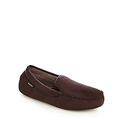 Totes - Dark brown 'Pillowstep' moccasin slippers