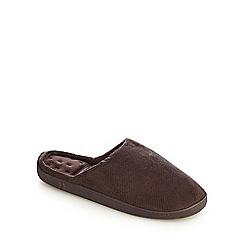 Totes - Dark brown 'Pillowstep' cord mules