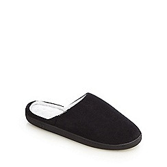Totes - Black 'Pillowstep' cord mule slippers