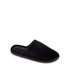 Totes - Black velour mule slippers