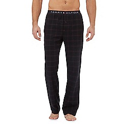 Tommy Hilfiger - Navy blue check pyjama pants